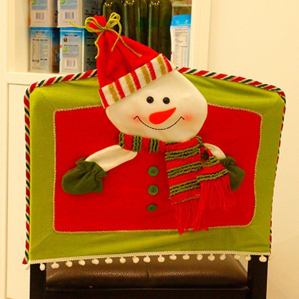 Silla De Navidad Muñeco De Nieve Cubre Tres Tallas Mode