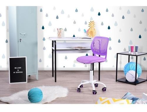 silla de oficina altura ajustable carnation púrpura para ni