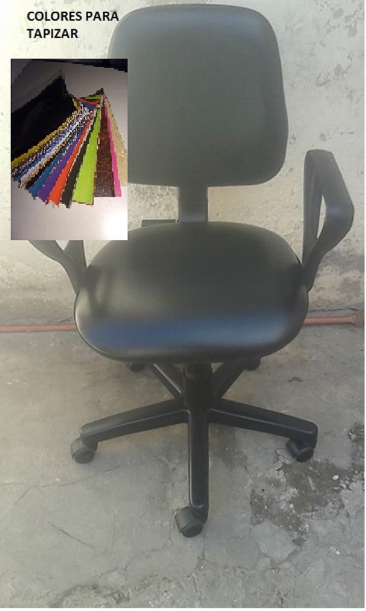 Silla De Oficina Cuerina Tapizado Nuevo ($800) Elegís Color - $ 800 ...