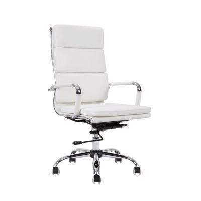 Silla de oficina director giratoria reclinable cromada for Silla oficina reclinable