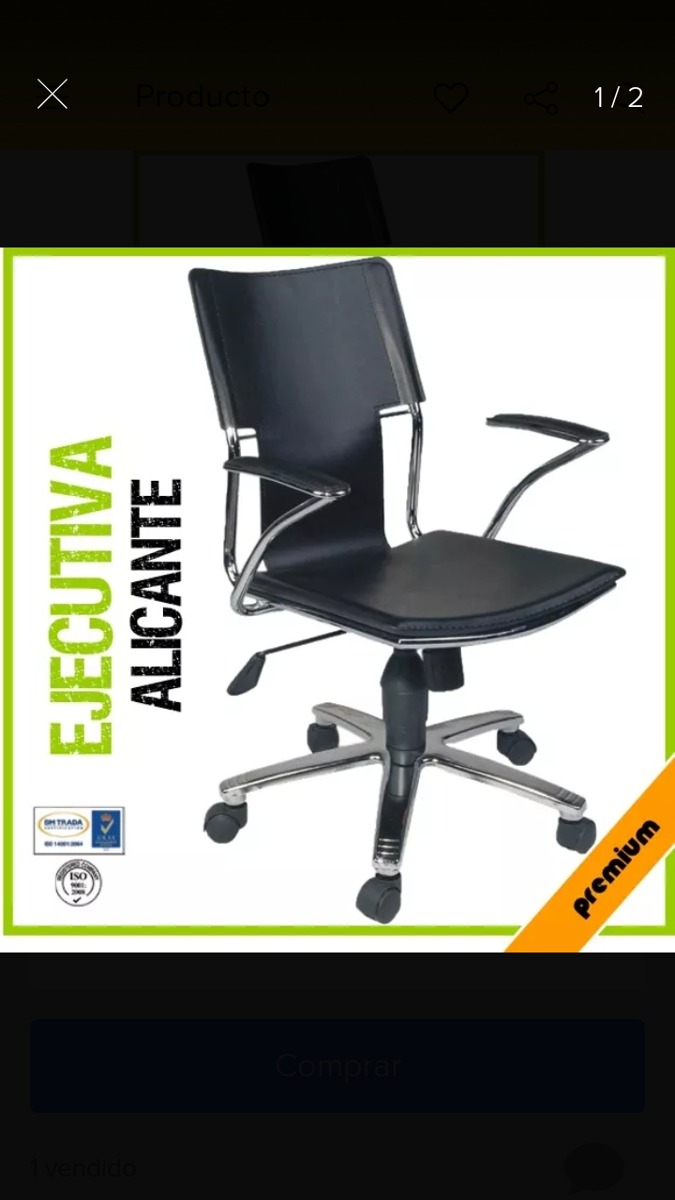 Silla De Oficina Ejecutiva Alicante Ergonomica Piel