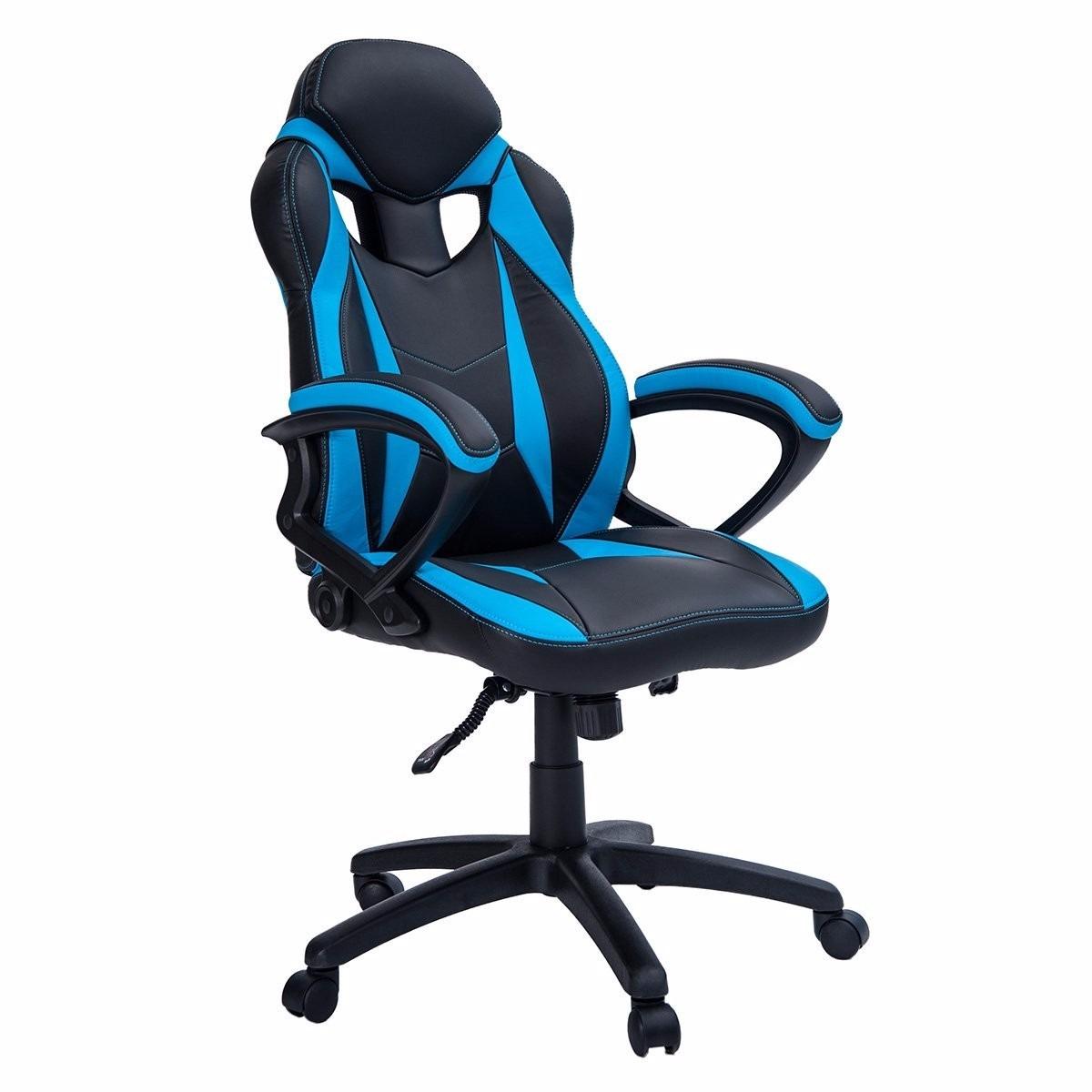 Silla de oficina ergonomica merax azul 4 en for Silla ergonomica amazon