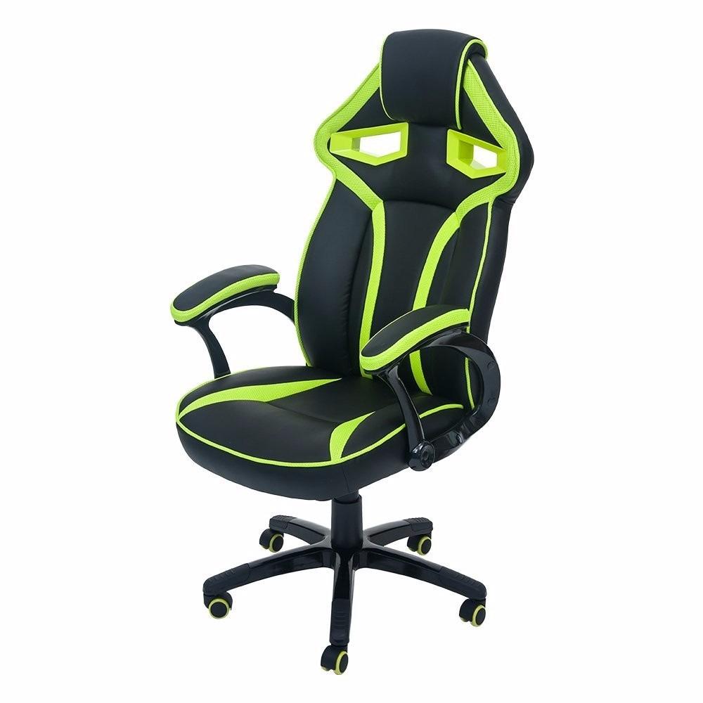 Silla de oficina gamer merax stylish verde 4 for Precio de silla gamer