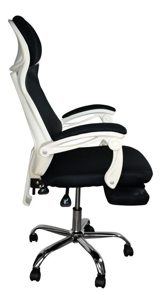 Oficina De Reposapies Ergonomica Blanca Con Silla Gerencial vmNwn80