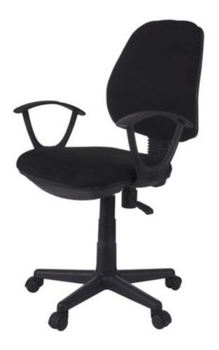 silla de pc oficina giratoria reforzada regulable + apoya brazos