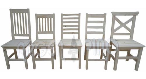 silla de pino cruz / indu alta y baja / 4 y 6  fajas fabrica