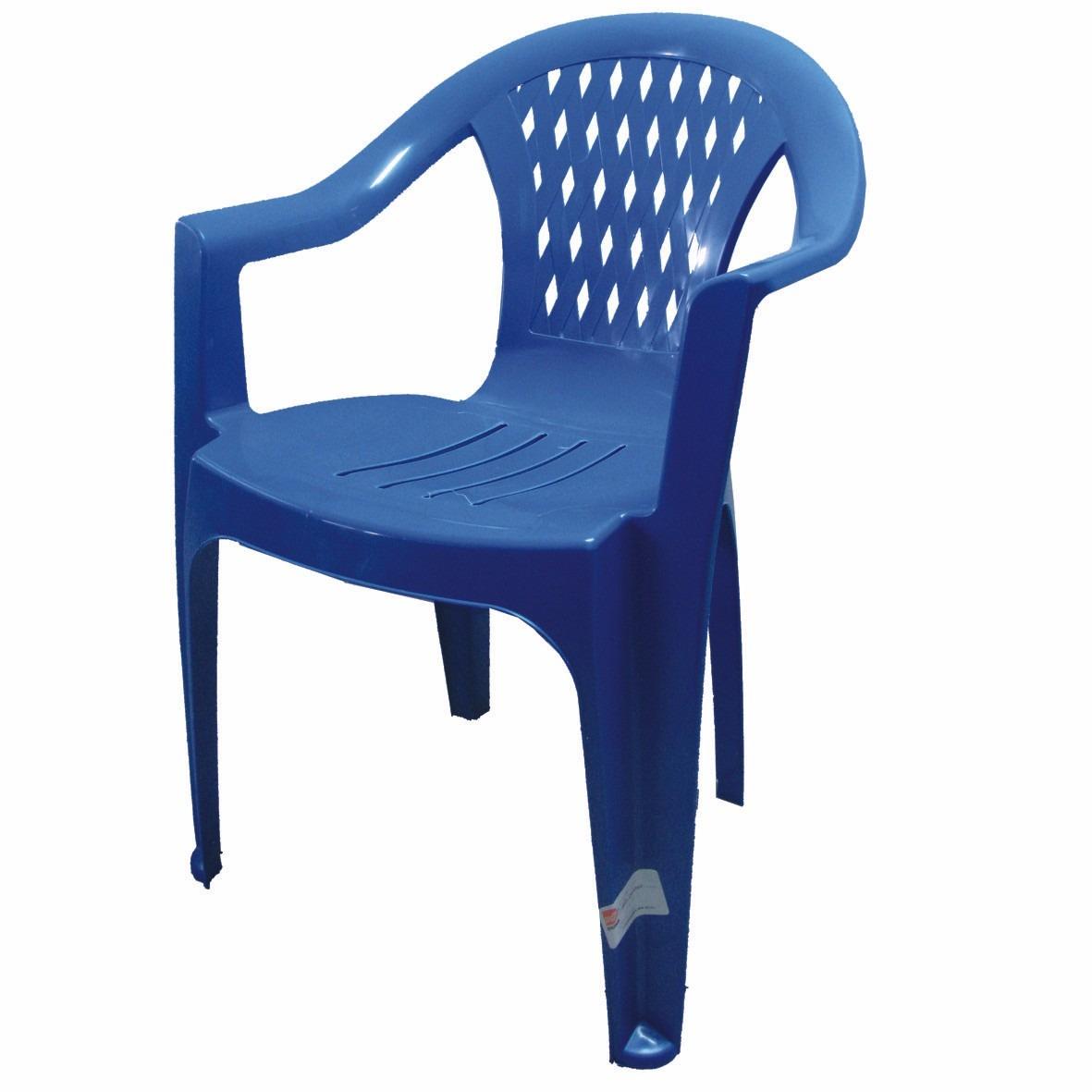 Silla de plastico berlin econ mica azul en - Sillas de plastico ikea ...