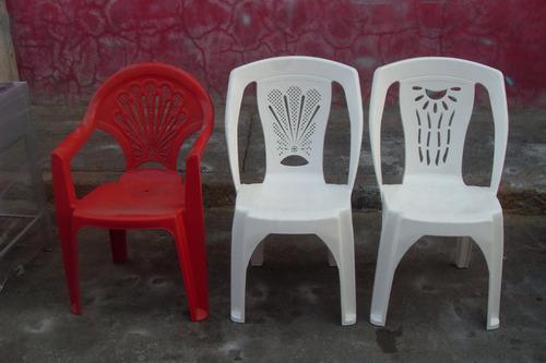 silla de plastico nueva apilable varios colores super lujo