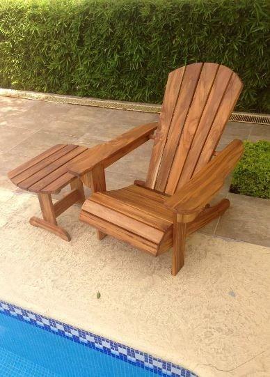 Silla de playa mesa madera de pino jardin terraza - Sillas madera jardin ...