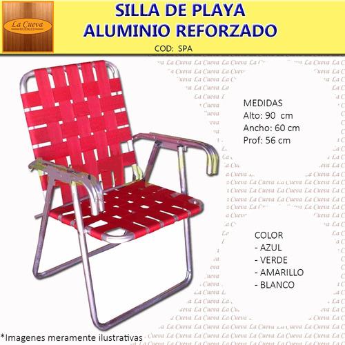 silla de playa plegable - aluminio - camping - jardin - lcm