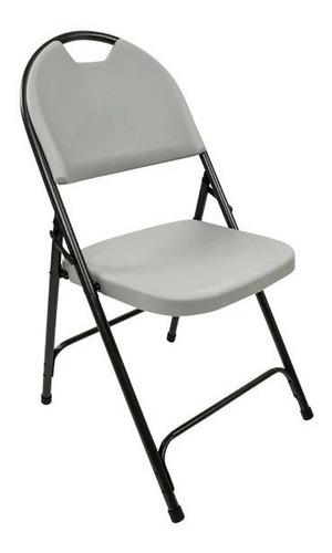 silla de resina con marco de acero