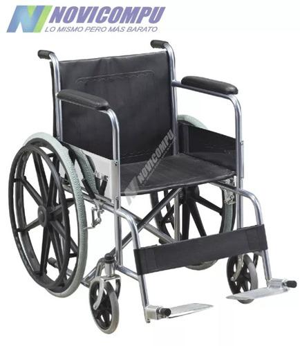 silla de rueda importada cromada de acero