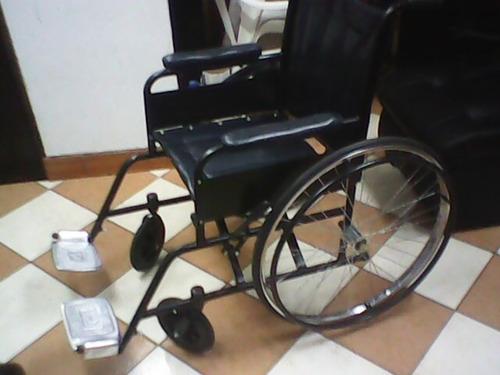 silla de rueda standar estructura negro c/.sistema de rodaje