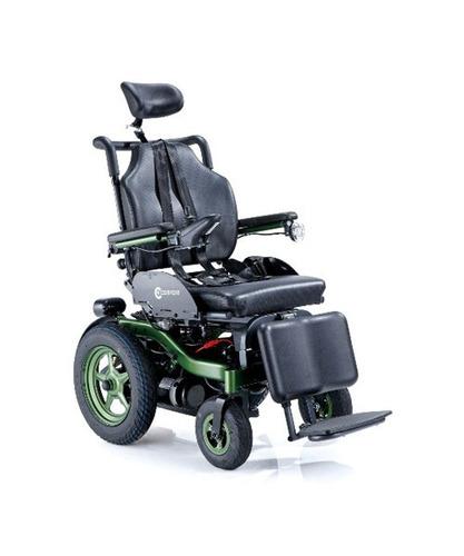 silla de ruedas a batería, reclinable, con luces