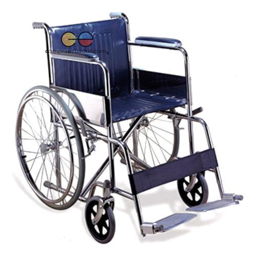 silla de ruedas aluminio apoya brazos apoya piernas 46cm