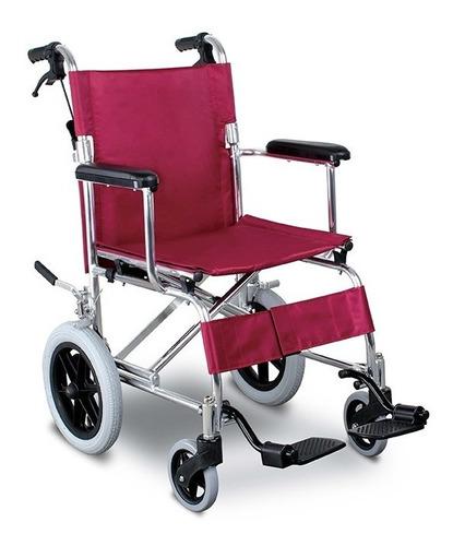 silla de ruedas  aluminio de  transporte