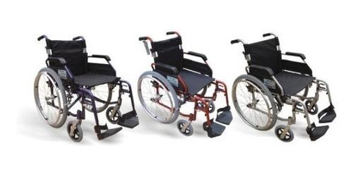 silla de ruedas aluminio, plegable, pies y brazos abatibles