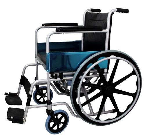 silla de ruedas con cómodo integrado wc