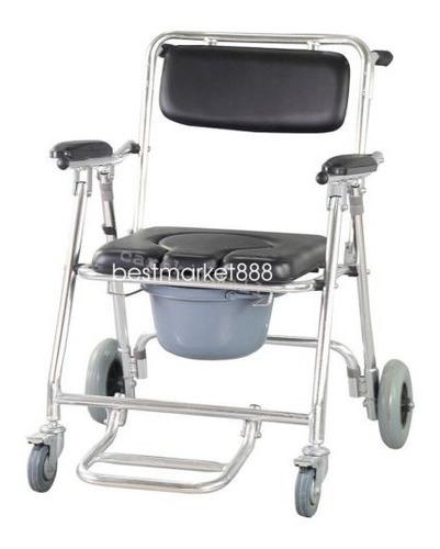 silla de ruedas con silla de baño