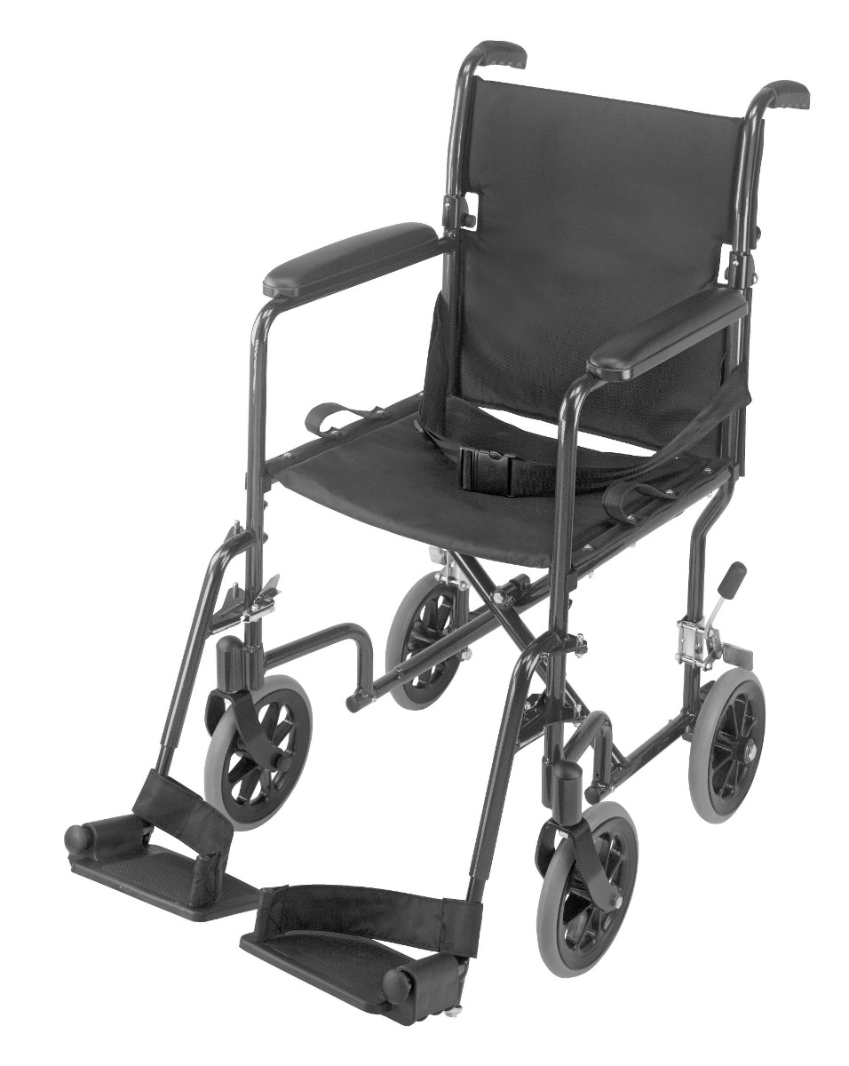 Silla de ruedas de traslado de aluminio super ligera de 19 for Silla de ruedas