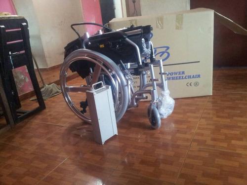 silla de ruedas eléctrica aluminio plegable