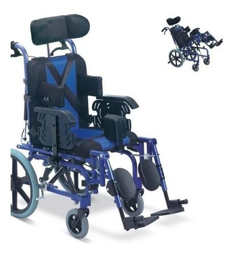 silla de ruedas especial con soporte cefalico, neurologica