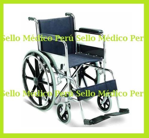 silla de ruedas importada aros aluminio estructura cromadaºº