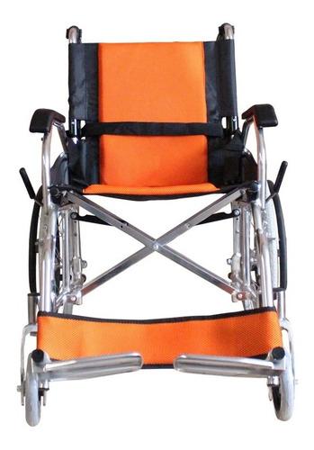 silla de ruedas ligera aluminio llanta neumatica frenos