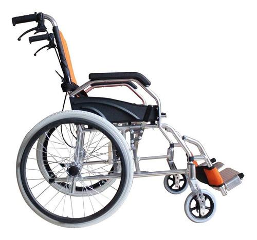 silla de ruedas ligera aluminio llanta neumatica frenos msi