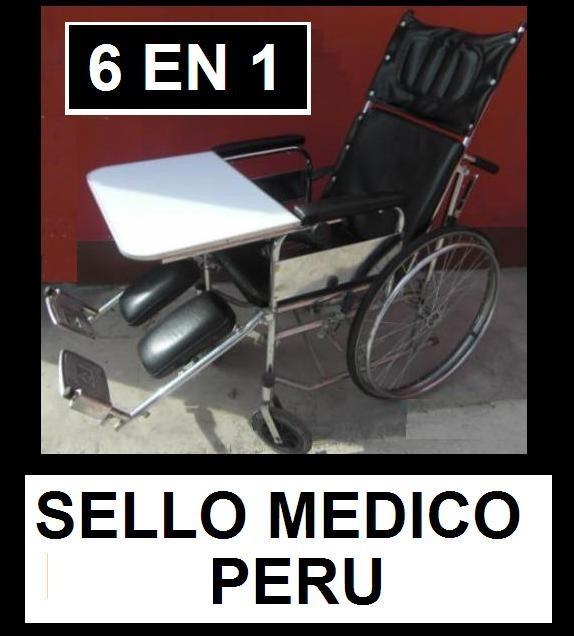 Silla de ruedas neurol gica 6 en 1 con mesa e inodoro s for Mesa 3 en 1 con 2 sillas