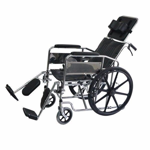 Silla de ruedas neurologica 6en1 inodoro reclinable mesa for Silla neurologica