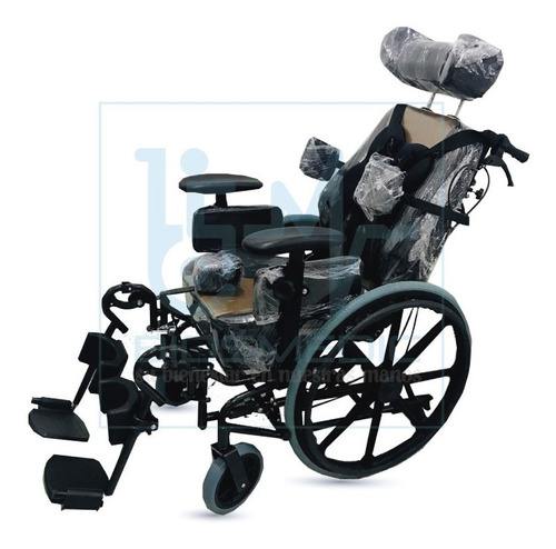 silla de ruedas neurológica / reclinable acolchada  adulto