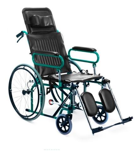 silla de ruedas neurológica verde llanta maciza