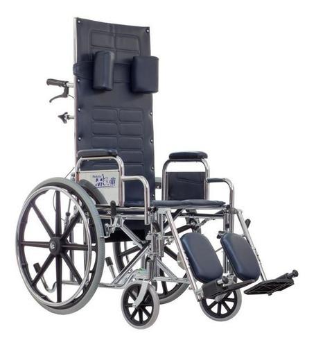 silla de ruedas reclinable movili con elevapiernas - reactiv