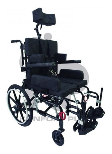 silla de ruedas reclinable neurológica acolchada adulto