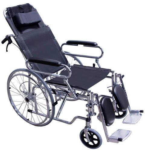 silla de ruedas reclinable tipo cama descansabrazos abatible