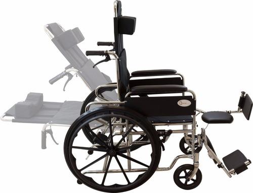 silla de ruedas tipo camilla 100% desmontable impermeable.