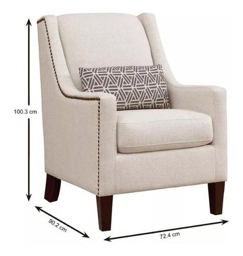 silla de tela beige true innovation sophia