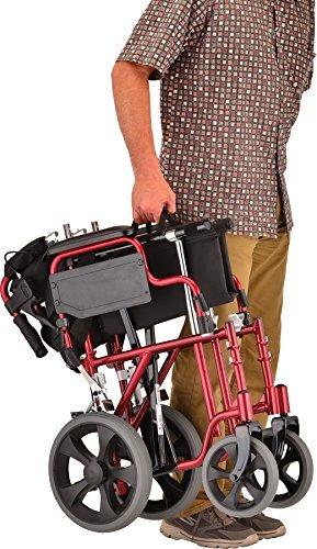 silla de transporte ligero nova 352 con brazos de mesa desmo