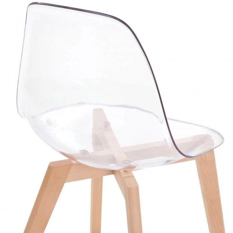Silla Decodesign Eames Dswacrilico Transparentebase Madera