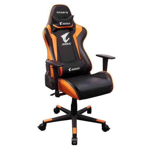 silla deportiva para gamers aorus acg300 negro naranja