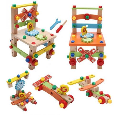 silla didactica de madera