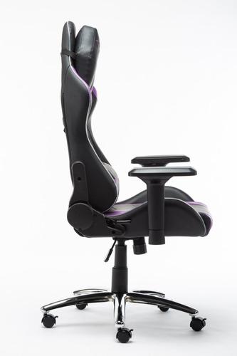 silla digital design master rgb gamer negro/morado