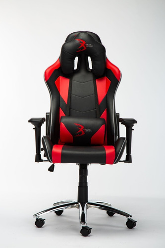 silla digital design master rgb gamer negro/rojo