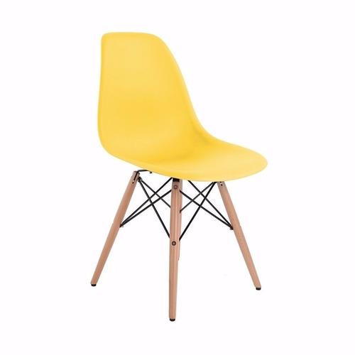 silla diseño eames varios colores con almohadón- dg estilo