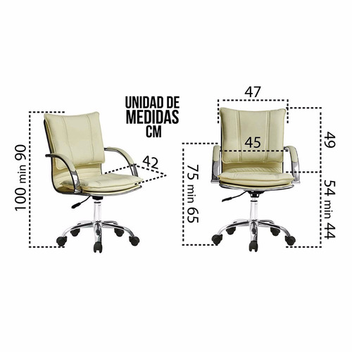 silla diseño italiano eco cuero para peluqueria o oficina