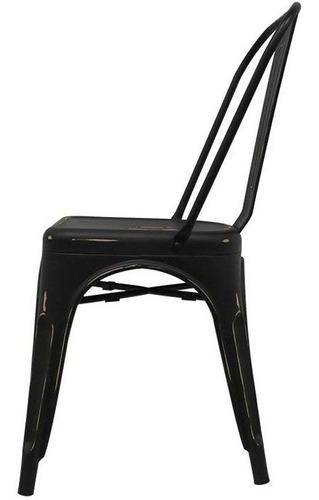 silla diseño tolix acero comedor casa comercio