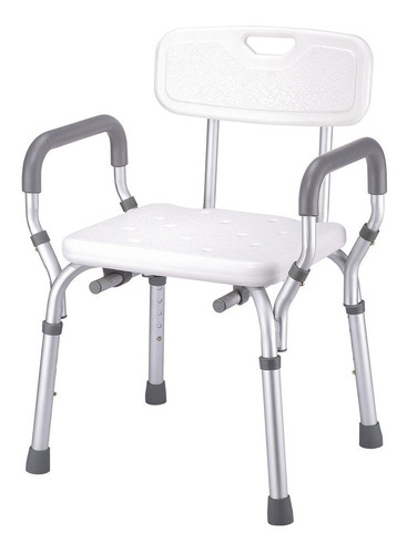 silla ducha plegable con descansabrazos abatible