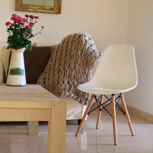 silla eames base madera comedor moderno - varios colores