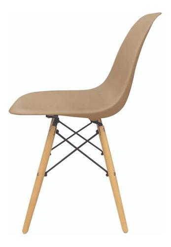 silla eames beige combo ocho  unidades